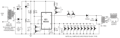 Digital Code Lock Circuit diagram