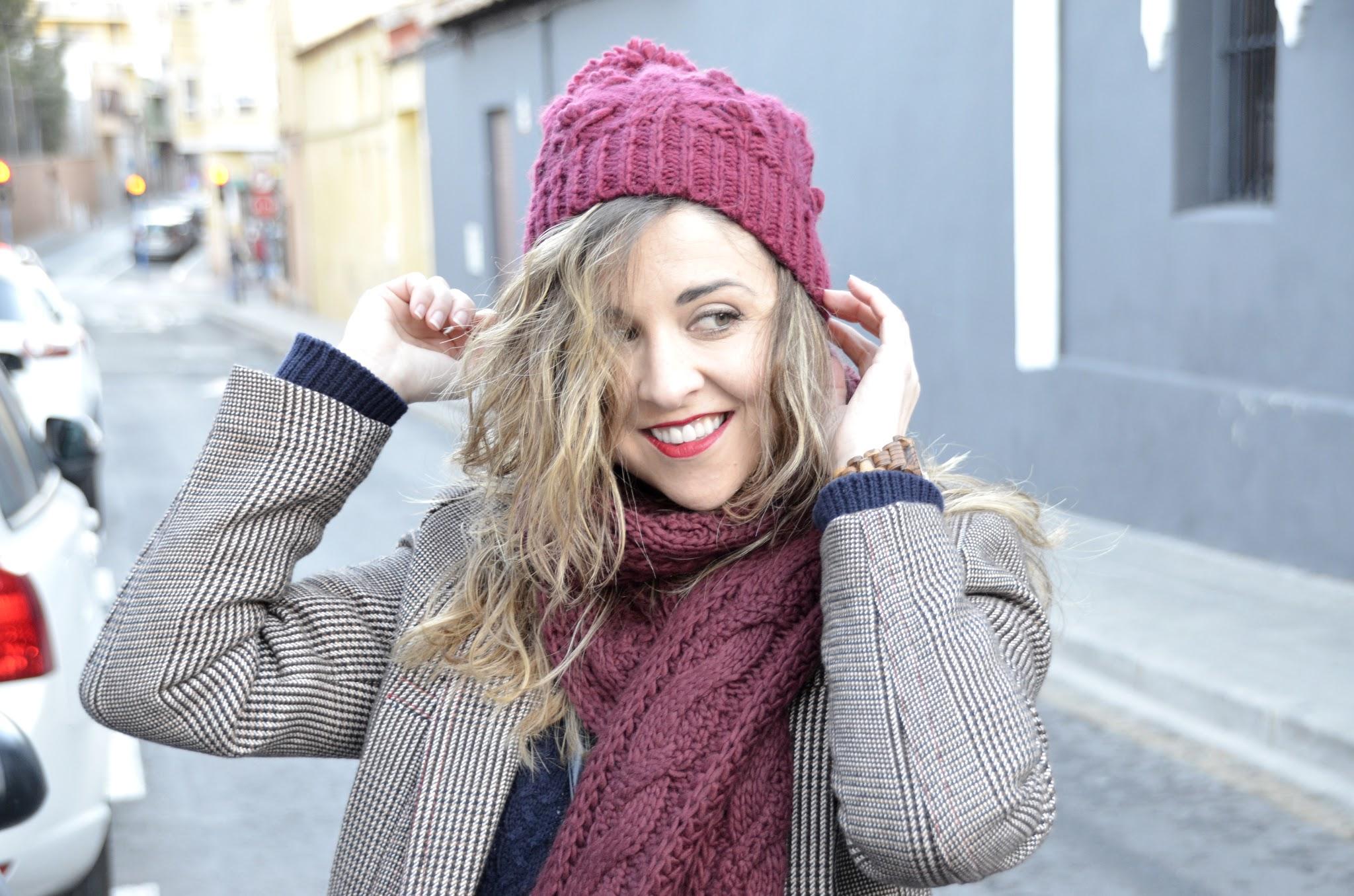 burgundy hat winter 2017 zara