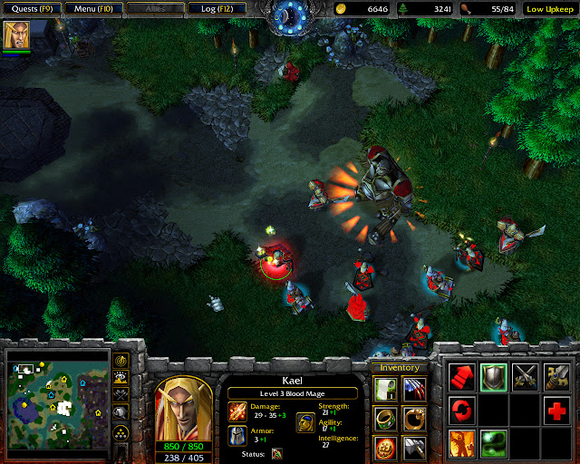 Misconceptions Mission 9   Kael Hero Screenshot   Warcraft 3: The Frozen Throne