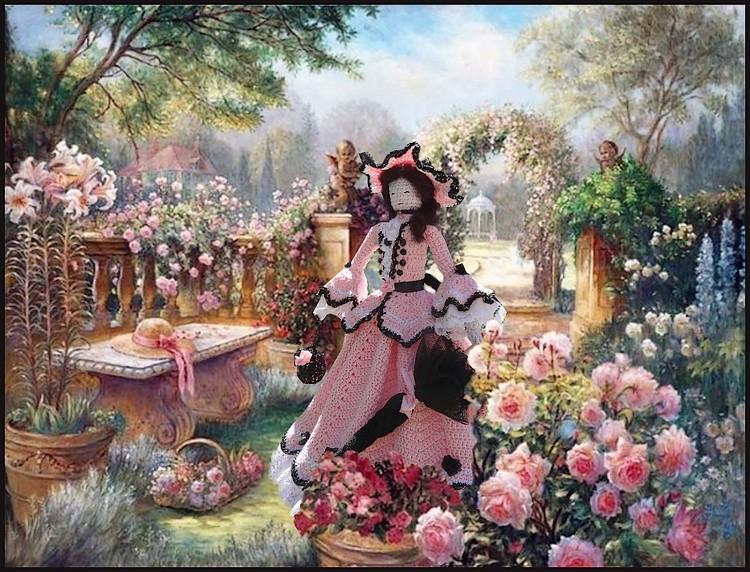 Poupée romantique du printemps