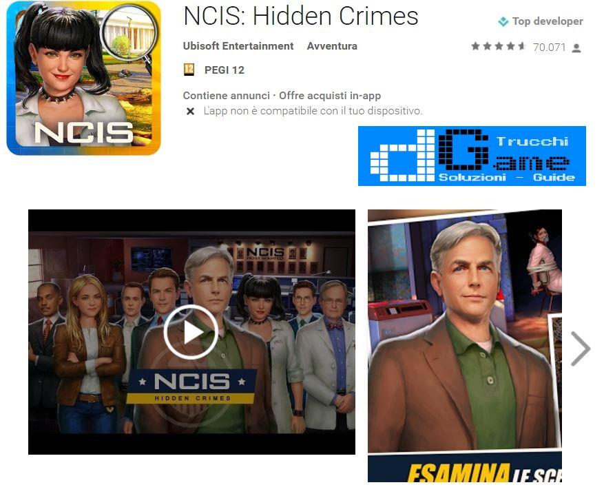 Trucchi NCIS: Hidden Crimes Mod Apk Android v1.17.6