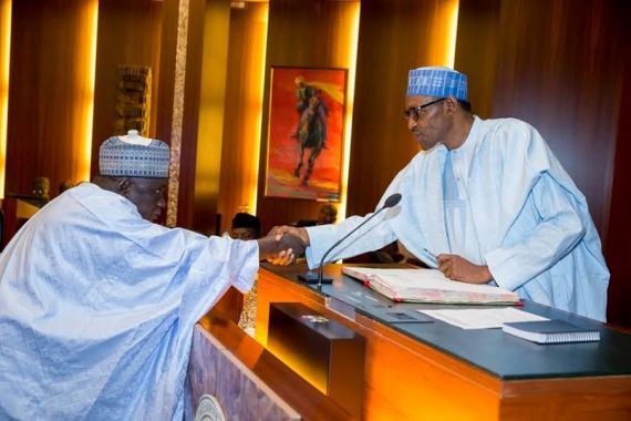 buhari swear in inec officials