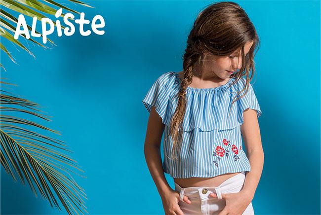 Blusas para niñas moda verano 2018.