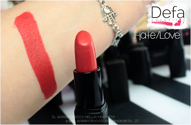 hate/love swatches  Defa cosmetics lipstick