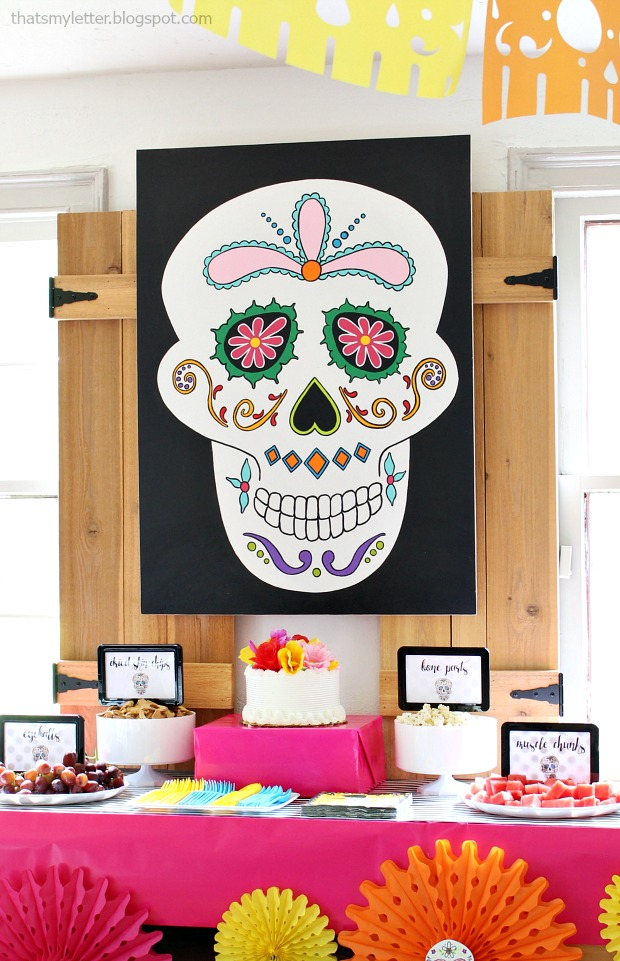 diy sugar skull backdrop