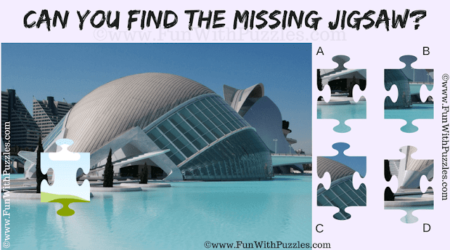 It is missing piece jigsaw puzzle in which you have to find the missing jigsaw piece in the picture of Valencia city
