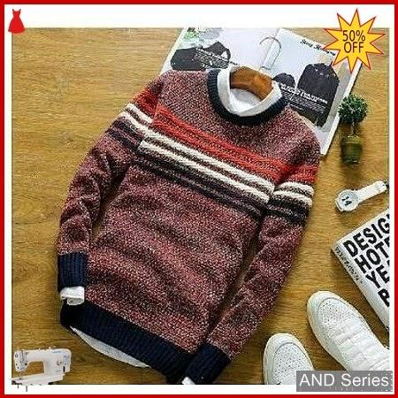 AND419 Sweater Pria John Tribal Merah Maroon BMGShop
