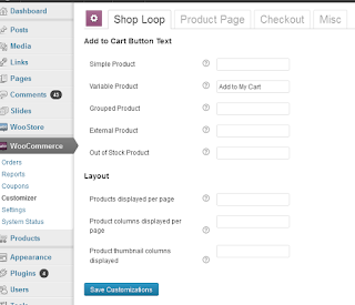 panel Plugin Woocommerce
