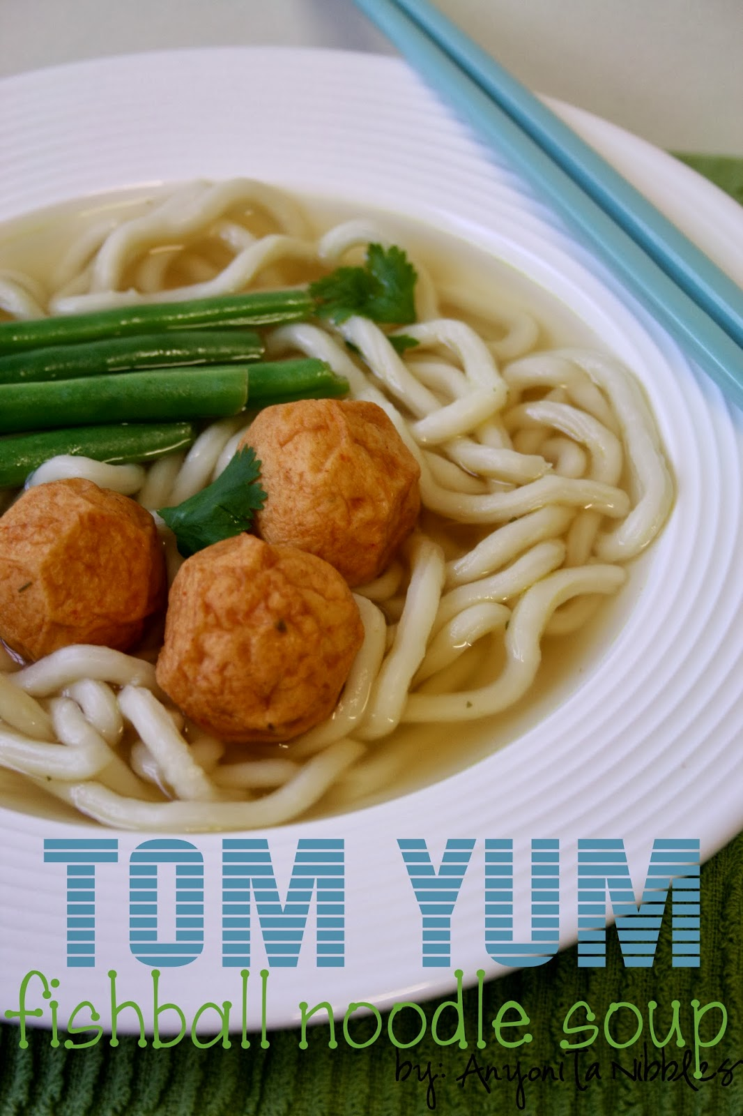 Tom Yum Fishball Noodle Soup