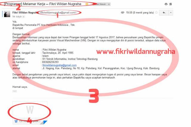 Cara Mengirim Lamaran CV Lewat Email Mudah Diterima Kerja contoh kata-kata menulis surat melamar pekerjaan online melalui hp android Komputer laptop via gmail yang baik dan benar perusahaan subject judul mengisi body ukuran kecil besar format file pdf doc lampiran gagal ditolak HRD