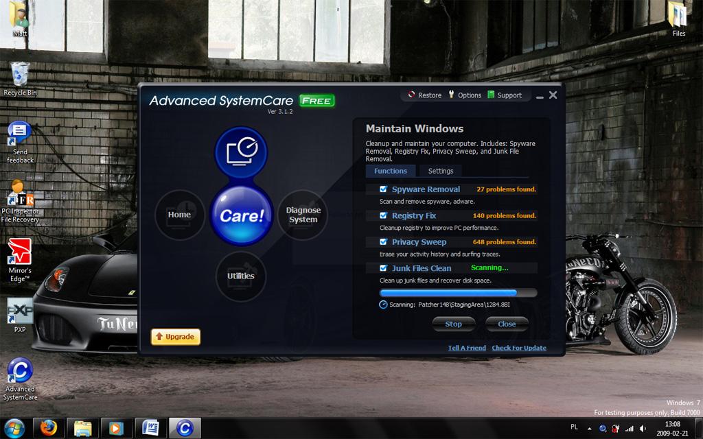 برنامج الصيانة المعجزة Advanced SystemCare 5.2.0.223