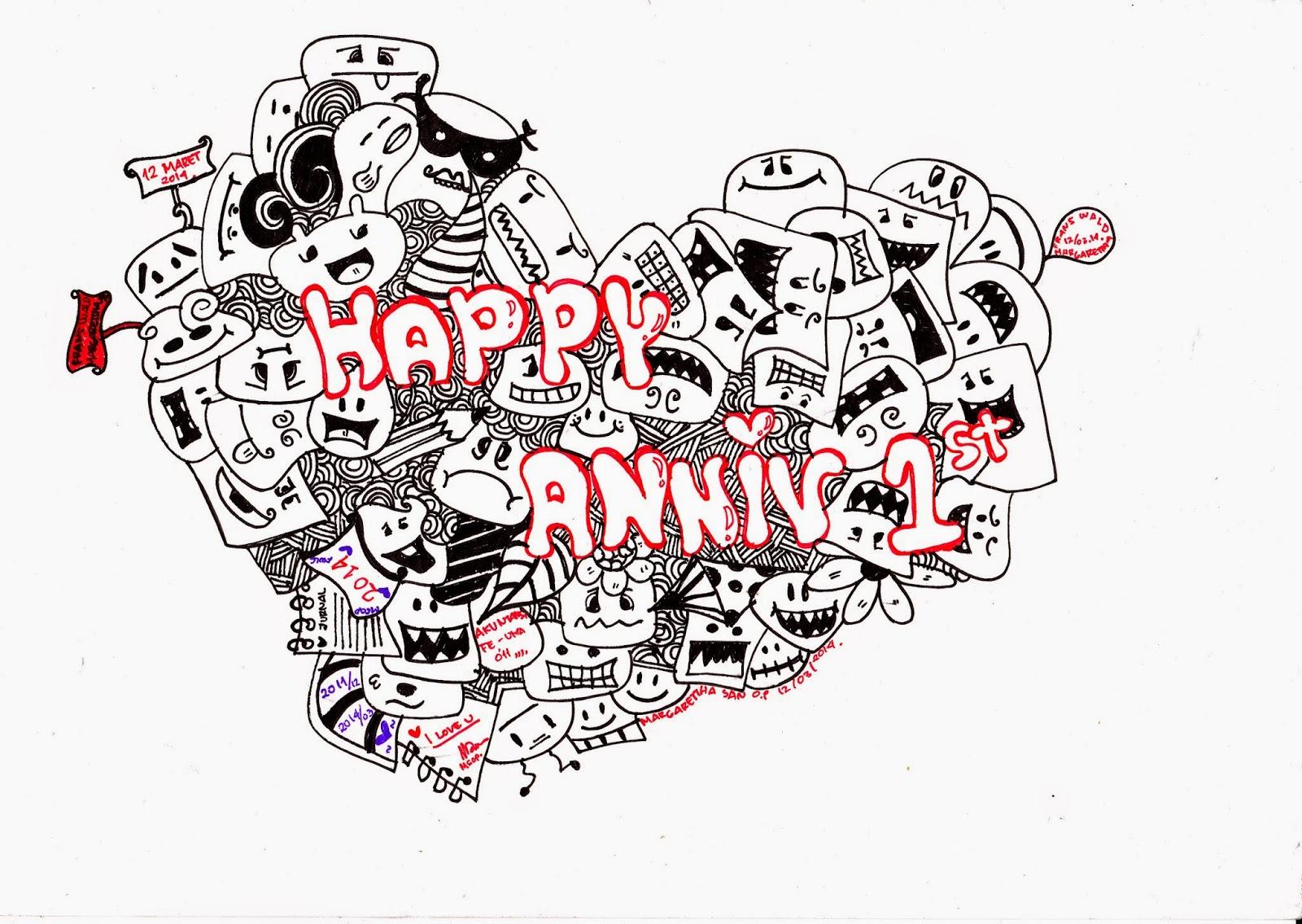 Kumpulan Doodle Art Keren Anniversary