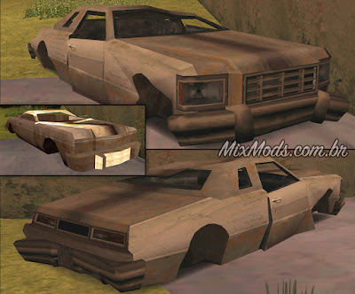 gta sa san mod vehicle props wrecked fucked cars hd fix carros