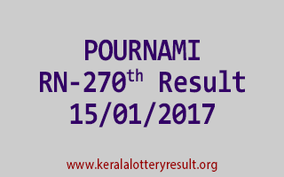 POURNAMI RN 270 Lottery Results 15-01-2017