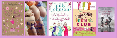 portadas del libro chicklit El club del púdin, de Milly Johnson