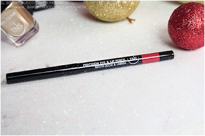 review red lip pencil rosso  best wishes TNS cosmetics Christmas