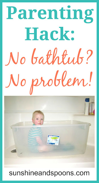 Parenting Hacks: No Bathtub, No Problem!