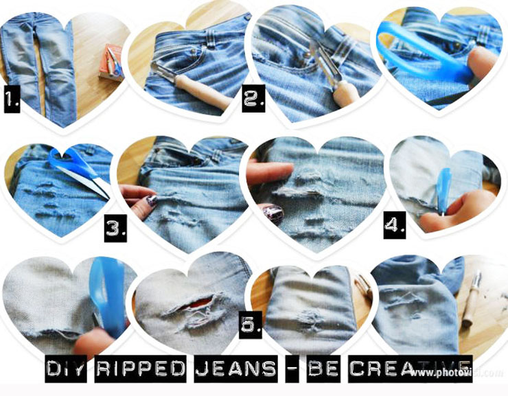 DIY trouer un jeans