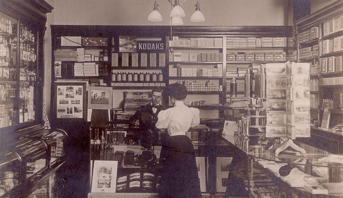 Kodak Camera Store, ca  1910 ~ vintage everyday