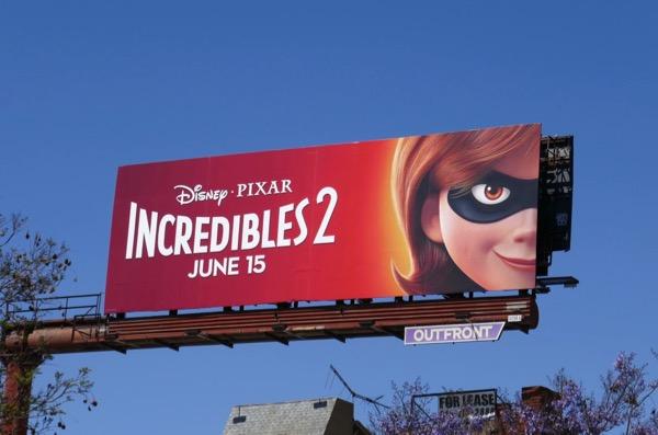 Incredibles 2 movie billboard