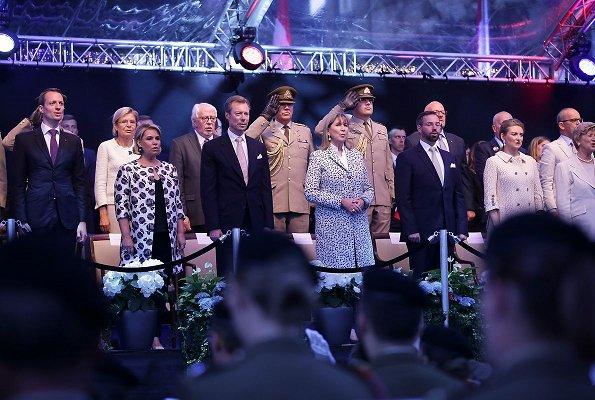 Duke Henri, Duchess Maria Teresa, Prince Guillaume, Princess Stephanie, Prince Felix, Princess Claire, Prince Louis, Princess Alexandra