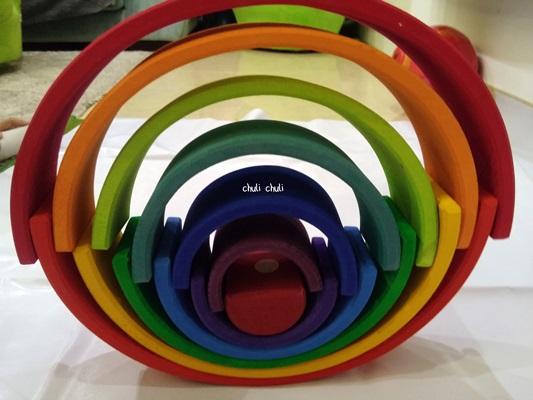circulo simétrico con el arcoiris