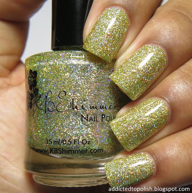 kbshimmer stalk market spring 2016 mega flame yellow gold holo glitter