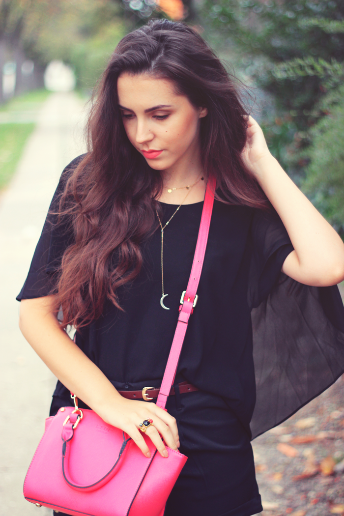 black and pink outfit dk fashion blog