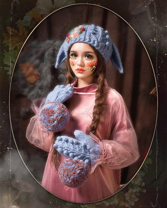 czapy na drutach