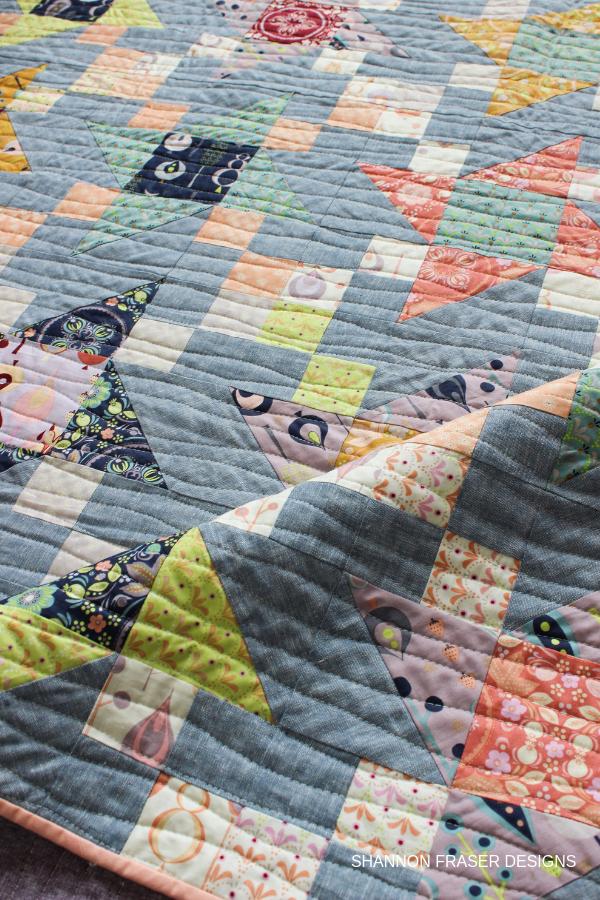 Organic wavy line quilting | Fall Irish Vortex Quilt | Shannon Fraser Designs