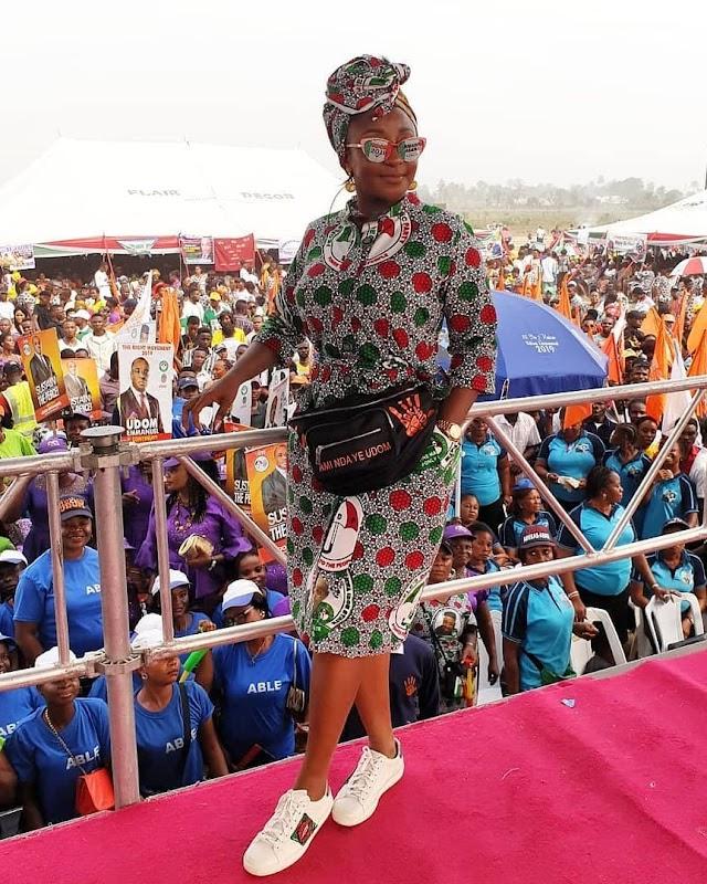 Ini Edo Rocks PDP Customized Ankara Outfit
