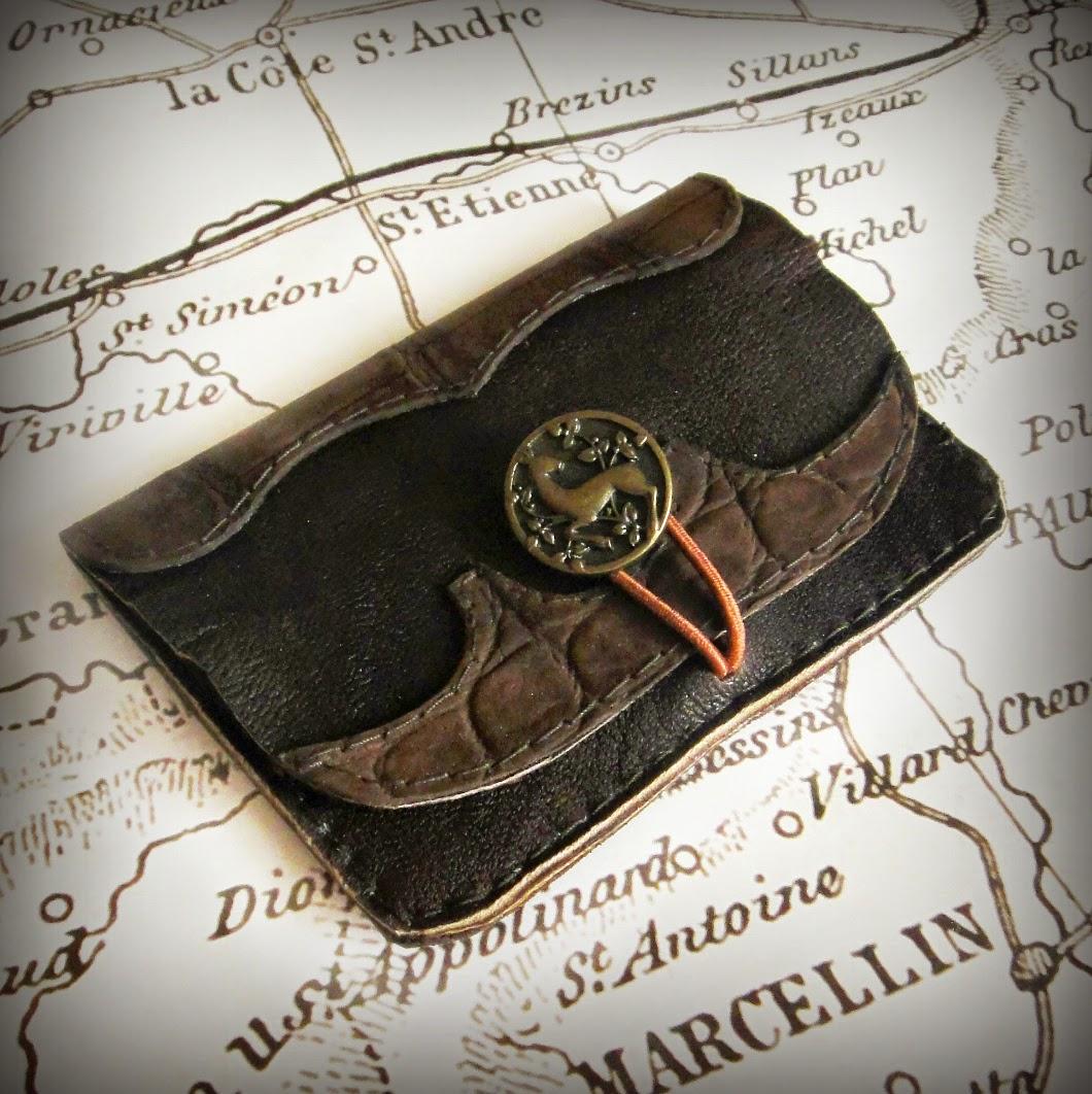 Кожаный картхолдер коричневая кожа для визиток и пластиковых карточек