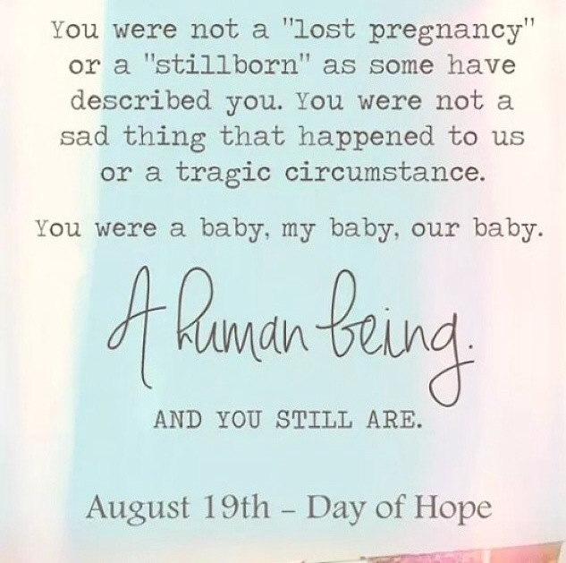 Pregnancy And Infant Loss Groups As I Was Scrolling Through Facebook This Morning Noticed Many People Posting Things About The Day Of Hope