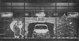 Douglas Garage Ltd Northampton Christmas 1958 window display