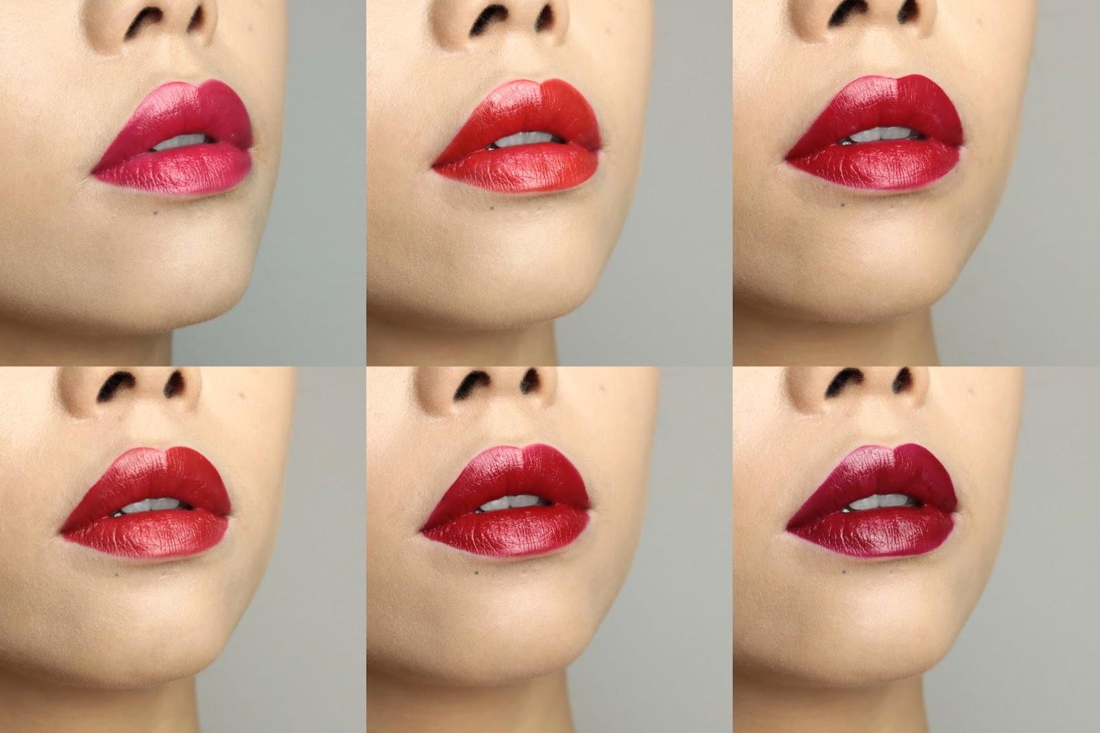 Color Riche de L'Oréal La palette lèvres  Red Avis et Swatch