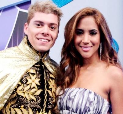 Foto de Ignacio Baladán de príncipe junto a Melissa Paredes