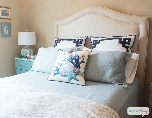 Coastal Bedroom with IKEA RAST Dresser Nightstand