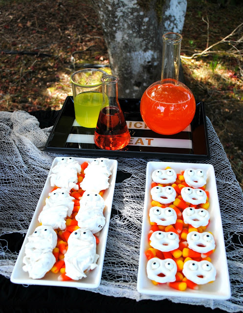Halloween dessert table styled by Fizzy Party