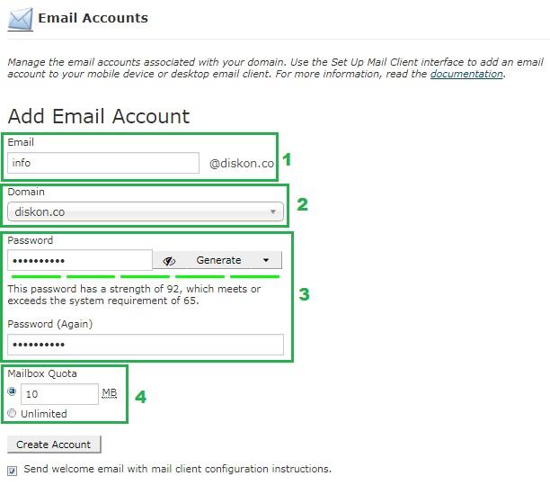 Buat Akun Webmail