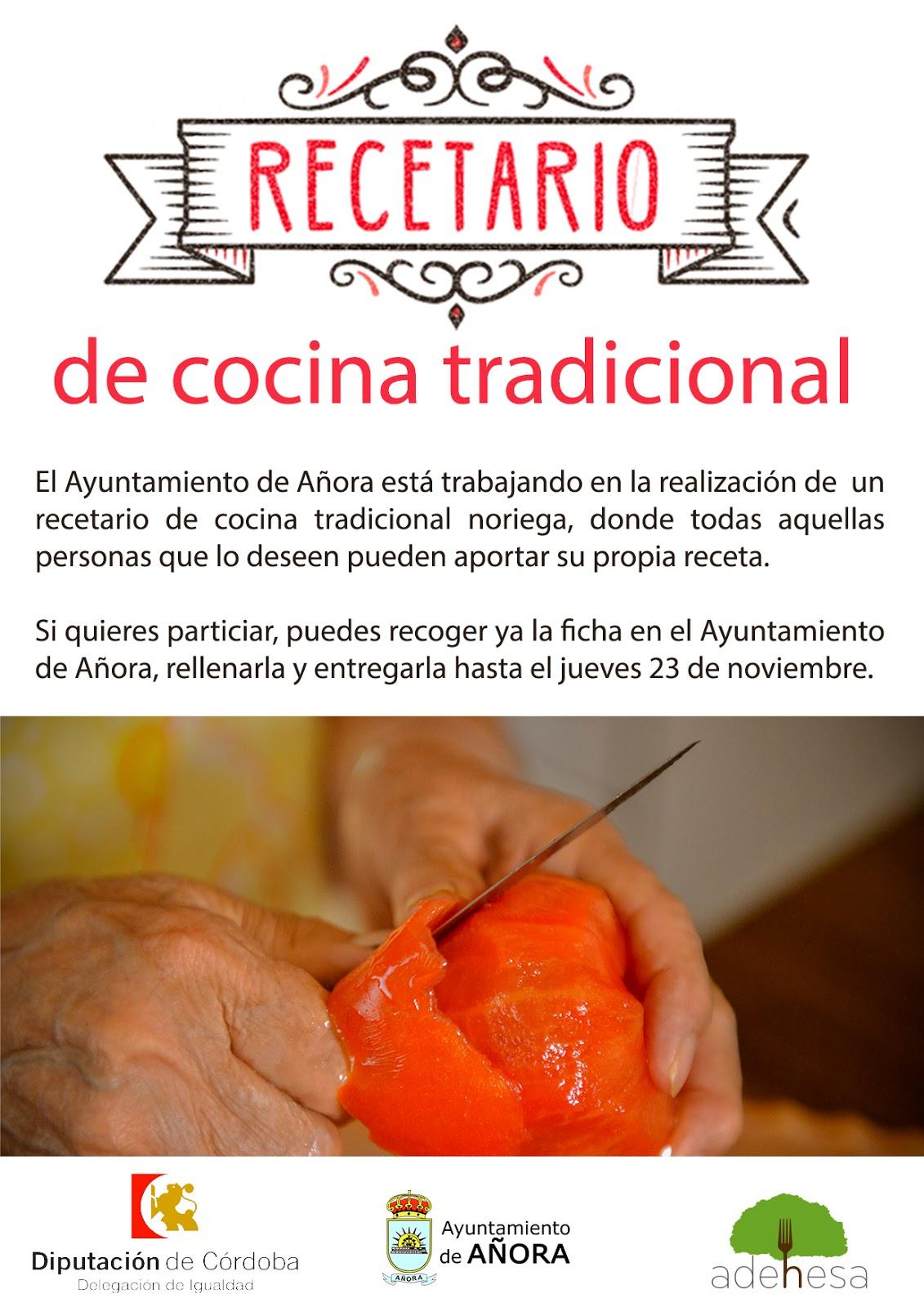 Recetario De Cocina.Añora Directo Elaboración De Un Recetario De Cocina Tradicional