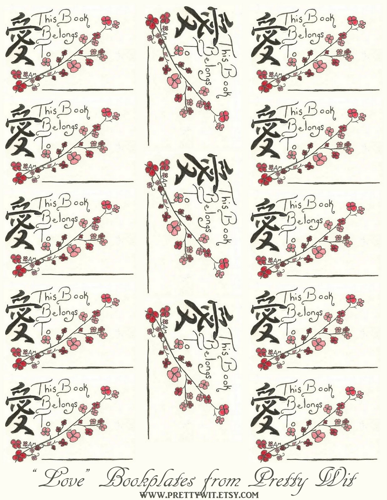 Part 2 Free Printable Valentine Bookplates. 1237 x 1600.First Valentine's Day Poems