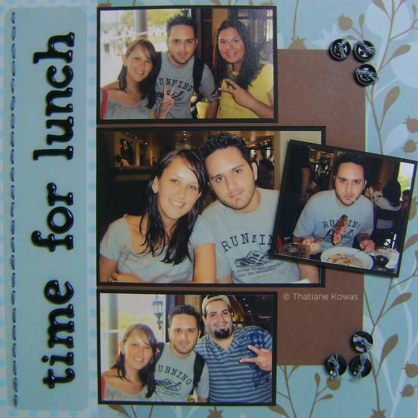 Página álbum Scrapbook Time for Lunch