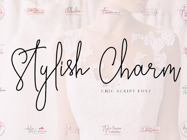 Stylish Charm Signature Logotype Font Free Download