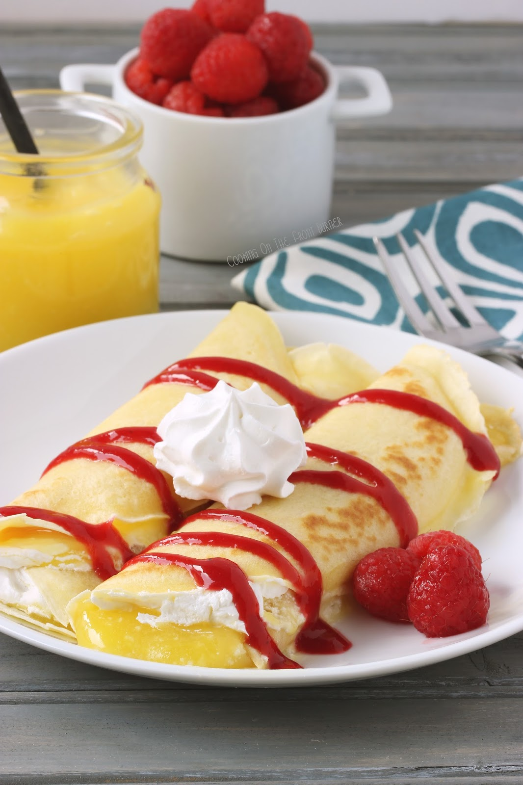 Red Kitchen Aid Mixer Island With Stove Top Lemon And Raspberry Crepes | Cooking On The Front Burner
