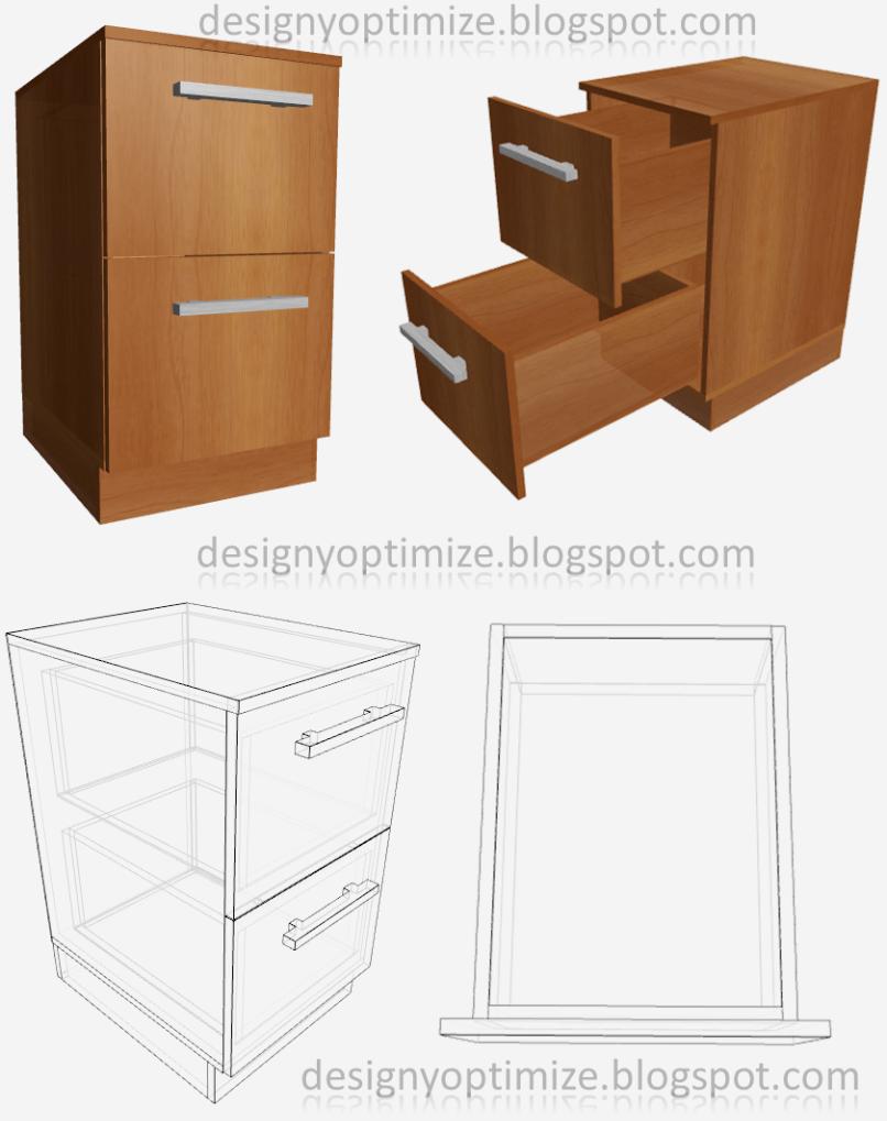 Dise o de muebles madera crear un archivador medidas for Planos de escritorios de oficina