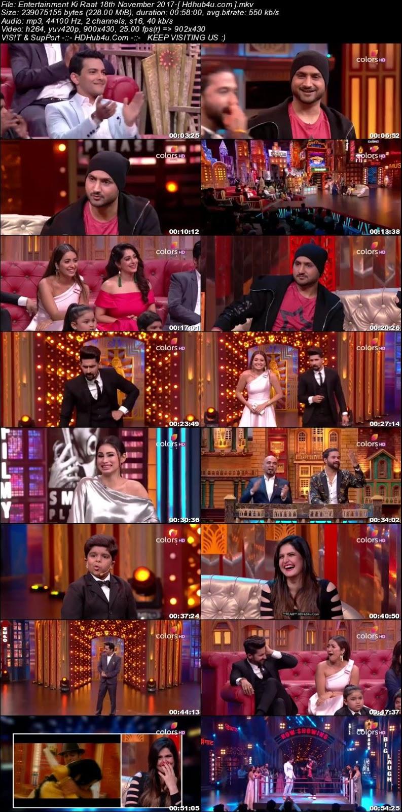 Entertainment Ki Raat 18th November 2017 480p HDTV 200MB Download