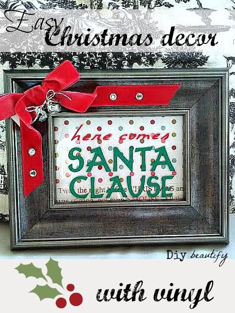 Christmas Vinyl DIY www.diybeautify.com