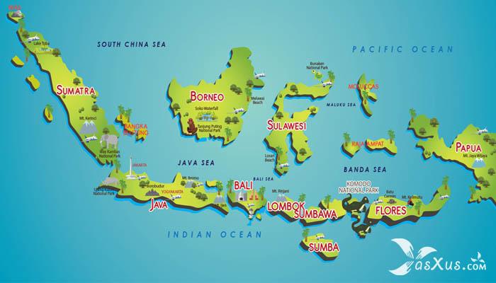 10 Pulau Terbesar di Indonesia Beserta Urutan, Luas, dan Provinsinya