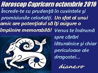 Capricorn octombrie 2016