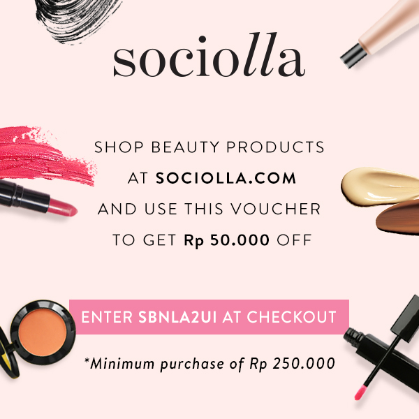 "Discount at Sociolla ""SBNLA2UI"""